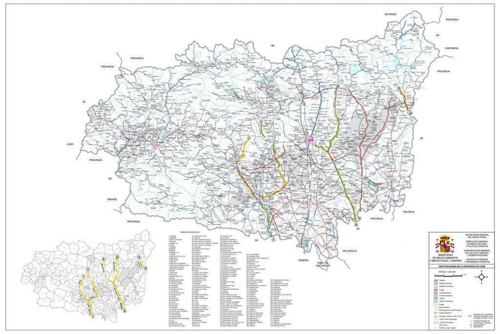 Mapa Vías Pecuarias